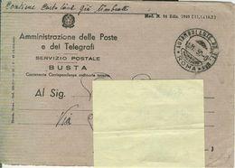 """""""AMMINISTRAZIONE POSTE E TELEGRAFI""""BUSTA CONTENENTE CORRISPONDENZE ORDINARIE TASSATE,1950,ANNO SANTO,AUTAMBULANTE PP.TT. - 1946-60: Marcophilia"""