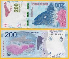 Argentina 200 Pesos P-364 2016 (Suffix D) UNC - Argentina