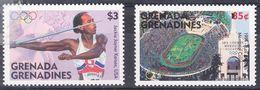 Grenada-Grenadines- 1996- Stade Olympique De Los Angeles Yvert 1925- Jackie Joyner-Kersee -lancer Du Javelot Yvert 1928 - Summer 1996: Atlanta
