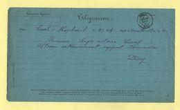 Telegramme - Pour Cassel Nord De Hazebrouck - 1880 - Telegramas Y Teléfonos