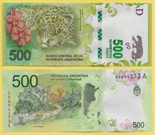 Argentina 500 Pesos P-365 2016 (Suffix D) UNC - Argentina
