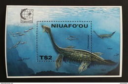 Niuafo'ou 1995** Bl.16. Prehistoric Animals [19;169] - Prehistorics