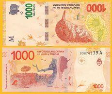 Argentina 1000 Pesos P-366 2017 (Suffix A) UNC - Argentina