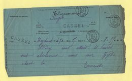 Telegramme - Pour Cassel Nord De Hazebrouck - 1895 - Telegramas Y Teléfonos