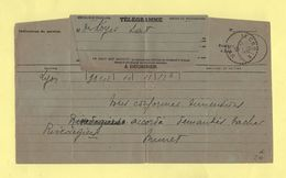 Telegramme - Pour La Croix Var De Lyon - 1828 - Telegramas Y Teléfonos