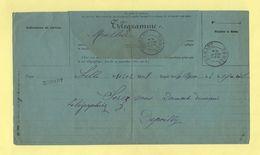 Telegramme - Pour Dompart Somme De Lille - 1893 - Telegramas Y Teléfonos