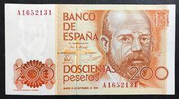 Spagna Spain 200 Pesetas 1980 Sup/fds Lotto 1948 - [ 4] 1975-… : Juan Carlos I