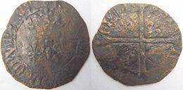 Blanc Florette Charles VII 6è émission De Mars 1429 (annelet Sous Lis Initial Au Revers) Atelier à Identifier - 987-1789 Monnaies Royales
