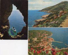 Grosseto - Lotto 3 Cartoline COSTA ARGENTO: Grotta Dei Santi; ISOLA DEL GIGLIO: Costa Sud-ovest; PORTO S. STEFANO - P56 - Grosseto
