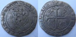 Blanc Aux Couronnelles Charles VII Rare 3è émission De Mai 1477 (lis Initial) Atelier à Identifier - 987-1789 Monnaies Royales