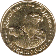 46 LOT ROCAMADOUR LE ROCHER DES AIGLES PERROQUET CHOUETTE MÉDAILLE MONNAIE DE PARIS 2018 JETON MEDALS TOKEN COINS - Monnaie De Paris