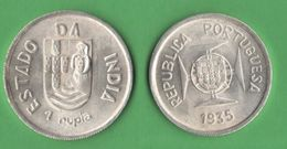 One Rupee 1935 Colonias Inde Portugaise India Portoghese - India