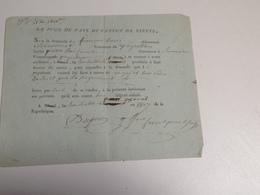NIEUL, 87, Convocation Du Juge De Paix , 1807 - Diplômes & Bulletins Scolaires