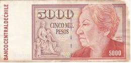 BILLETE DE CHILE DE 5000 PESOS DEL AÑO 1996 (BANKNOTE) - Chile