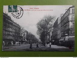 CPA -  TOUT PARIS  - Avenue Du Maine (XIVe) Prise De La Rue De La Gaîté   (animée: Chevaux) - Distretto: 14