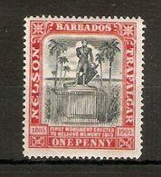 BARBADOS 1906 1d SG 147 MOUNTED MINT Cat £12 - Barbados (...-1966)