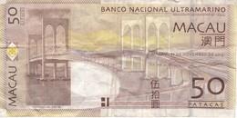 BILLETE DE MACAO DE 50 PATACAS DEL AÑO 2013  (BANKNOTE) - Macau