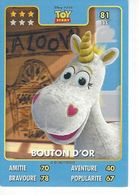 Carte Disney Pixar Auchan 2015  N° 81 TOY Story  BOUTON D'OR - Disney