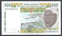COTE D IVOIRE 500 FRANCS 1995 BILLET TTB - Côte D'Ivoire