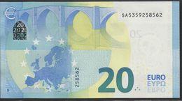 """EURO 20  ITALIA SA S018  """"35""""  DRAGHI  UNC - EURO"""