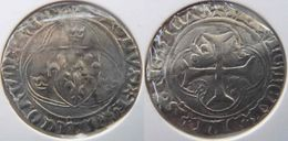 Rhône Alpes Auvergne Allier Saint Pourçain Sur Sioule 1488 Blanc Aux Couronnelles Charles VIII ? Ou Charles VII, Fauté - 987-1789 Monnaies Royales