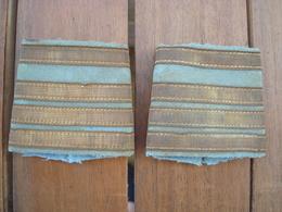 Paire De Passants Commandant Tirailleurs - Indo - Indochine. - Armée De Terre