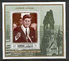 Ajman Bl 338 Kennedy, Neuf** Sans Charniere, Mint NH, Minkus 870 - Ajman