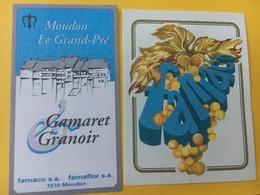 8568 - Gamaret Garanoir  Moudon Le Grand Pré Famaco Sa - Etiquettes