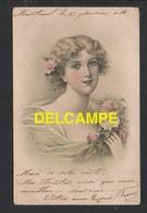 DD / ILLUSTRATEURS / JEUNE FEMME EN ROBE VERTE / CIRCULÉE EN 1904 - Illustrators & Photographers
