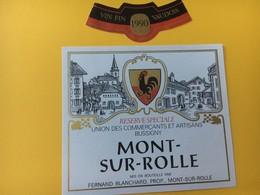 8569 - Mont Sur Rolle 1990 Réserve Des Commercants Et Artisans De Bussigny Suisse - Etiquettes