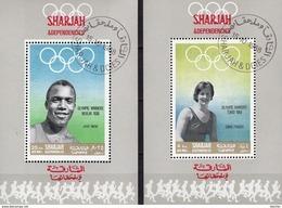 Olympiade-Gewinner 1936+1964 Schardscha Blocks A+G 43 O 12€ Olympia-Sieger Ms Sport Blocs Ss Olympics Sheets Bf VAE - Sharjah