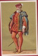 Oude Chromo Gouddruk Goldprint Gaspard De Coligny Huguenot Historic Figures Historiques Litho Lithographie Old - Autres