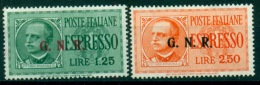 REGNO 1943-44 G.N.R. ESPRESSI SBRESCIA III TIPO MH* RARI  FIRMATO R. DIENA (L.250) - 4. 1944-45 Repubblica Sociale