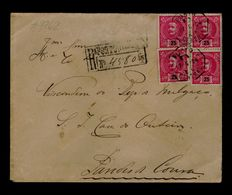 PAREDES DE COURA 17-06-1904 ( P.DE COURA) Portugal D.Charles Cover 25r X4  VISCONDE DE MELGAÇO #9762 - Lettres & Documents