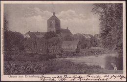 POLAND 1906 Postcard Pommern Drawsko Dramburg, Lake, Church Long Address W414 - Pologne
