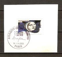 France 2010 - Aragon Et L'Art Moderne - Cachet événementiel -TP Métiers D'art/Vitrail  - Marcophilie - Marcophily (detached Stamps)