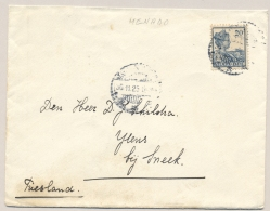 Nederlands Indië - 1925 - 20 Cent Wilhelmina Met Scheepje - Enkelfrankering Van MENADO Naar Sneek / NL - Indes Néerlandaises