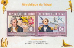 CHAD 2013 MNH**  James Cook & James Clark Ross M/S - OFFICIAL ISSUE - DH1828 - Boten