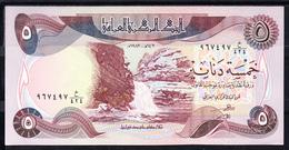 IRAQ 1980    5 DINARes .  PICK Nº 70  NUEVO SIN CIRCULAR  B153 - Iraq