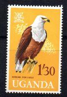 Sello Nº 73 Uganda - Águilas & Aves De Presa