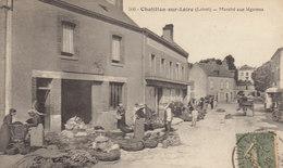 °°°°°  45 CHATILLON SUR LOIRE :  Marché Aux Légumes      °°°°°  ////   REF.  JUILLET 18  /  BO. 45 - Chatillon Sur Loire