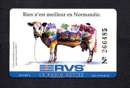 "Carte Jeu Numérotée "" RVS "" La Radio Active / Verso Réseau FM De Normandie - Unknown Origin"