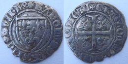 Sud Ouest Nouvelle Aquitaine Charentes Maritimes La Rochelle 1389 Blanc à L'écu Dit Guénar 2è émission Charles VI - 1380-1422 Charles VI Le Fol