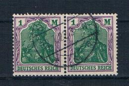Deutsches Reich 1920 Germania Mi.Nr. 150 Waagr. Paar Gestempelt - Alemania