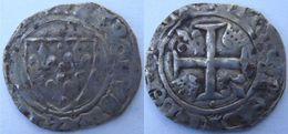 Sud Ouest Nouvelle Aquitaine Charentes Maritimes La Rochelle 1417-8 Blanc à L'écu Dit Guénar 6è émission Charles VI Rare - 1380-1422 Charles VI Le Fol