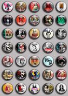 Iggy Pop  Music Fan ART BADGE BUTTON PIN SET  (1inch/25mm Diameter) 35 DIFF - Music