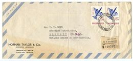 Argentina 1966 Registered Airmail Cover Buenos Aires To Detroit MI W/ Scott C102 Plane - Argentina