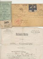 Groot Lot Documenten En Foto's :voor 1914, Wereldoorlog 1,na Wereldoorlog 1 Militaire Spoorwegen Adinkerke, Brugge - Documentos
