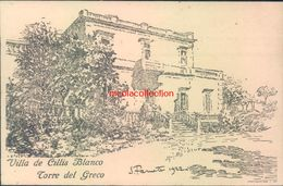 Ah382 - Torre Del Greco - Napoli - Villa De Cillis Blanco - Napoli (Naples)