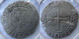 Bourgogne Franche Comté Côte D'Or Dijon 1389-1392 Blanc à L'écu Dit Guénar 1er Type De La 2è émission Charles VI Rare - 1380-1422 Charles VI Le Fol